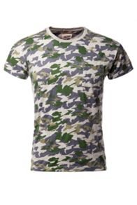 Cod Pattern Crew Neck Slim Fit T-Shirt