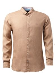 Solid Linen Plain Long Sleeve Shirt