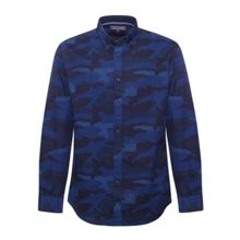Camoflage Pattern Long Sleeve Button Down Shirt