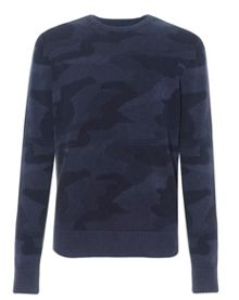 Axel Pattern Crew Neck Jumper