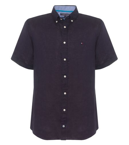 Tommy Hilfiger Solid Plain Short Sleeve Shirt