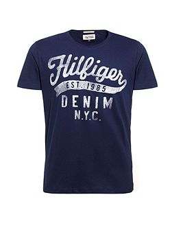 Tommy Graphic Crew Neck Slim Fit T-Shirt