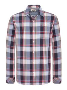 Fadil Check Slim Fit Long Sleeve Shirt
