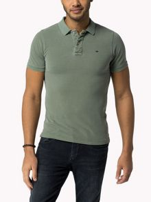 Pilot Flag Plain Polo Slim Fit Polo Shirt