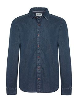 Thompson Textured Slim Fit Classic Collar Shirt