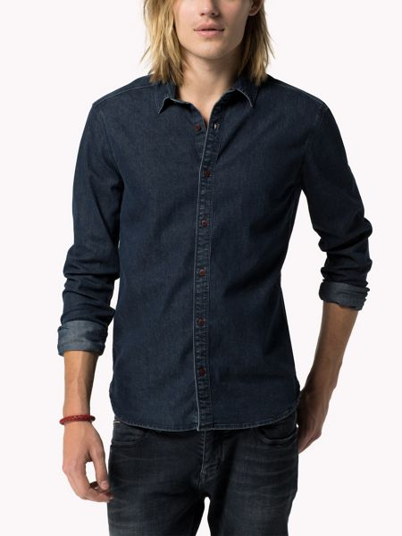 Tommy Hilfiger Thompson Textured Slim Fit Classic Collar Shirt