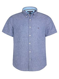Plain Classic Fit Short Sleeve Button Down Shirt