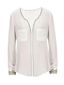 Aaiko blouse with beaded details
