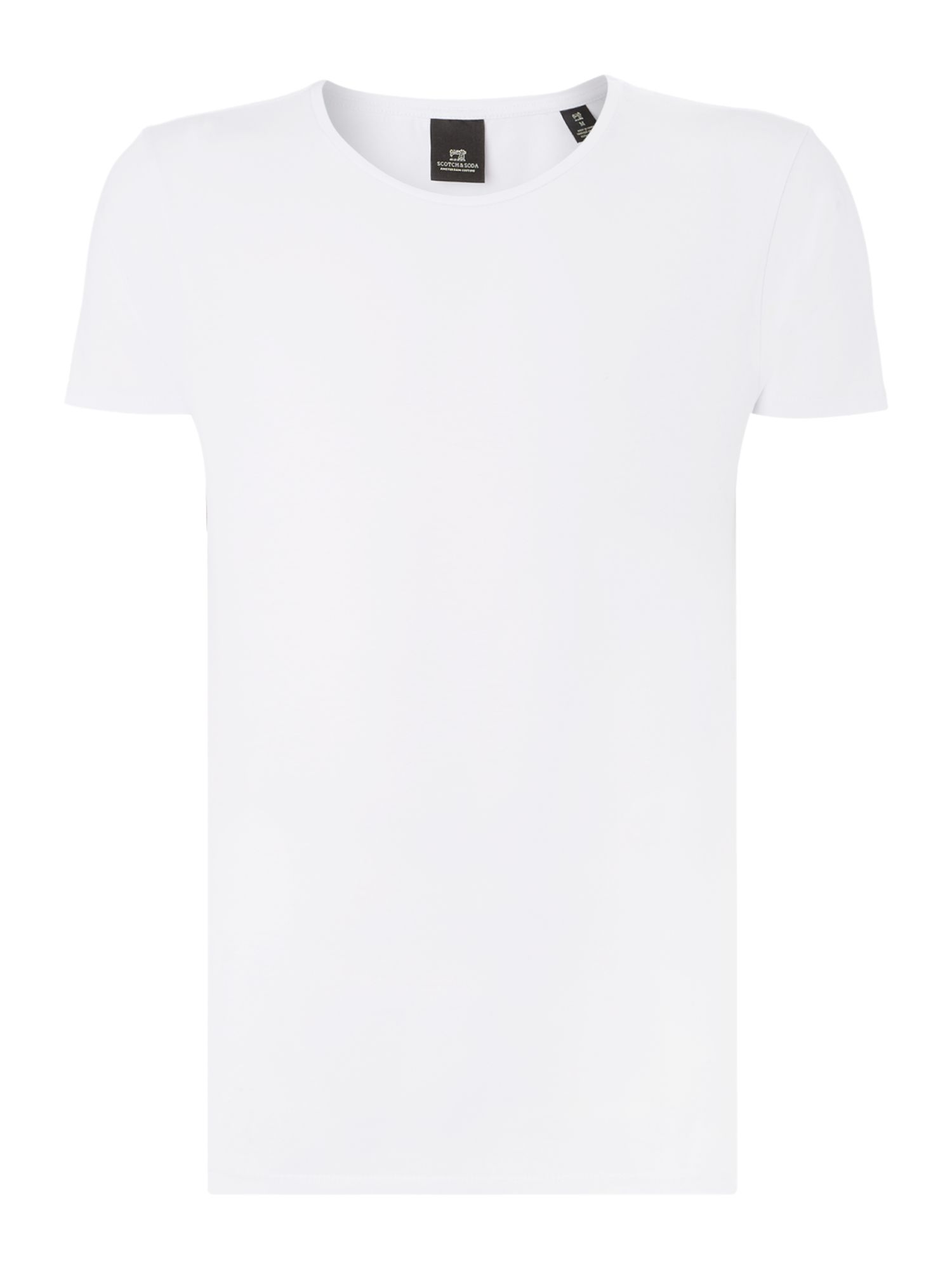 Men's Scotch & Soda Classic crewneck tee, White