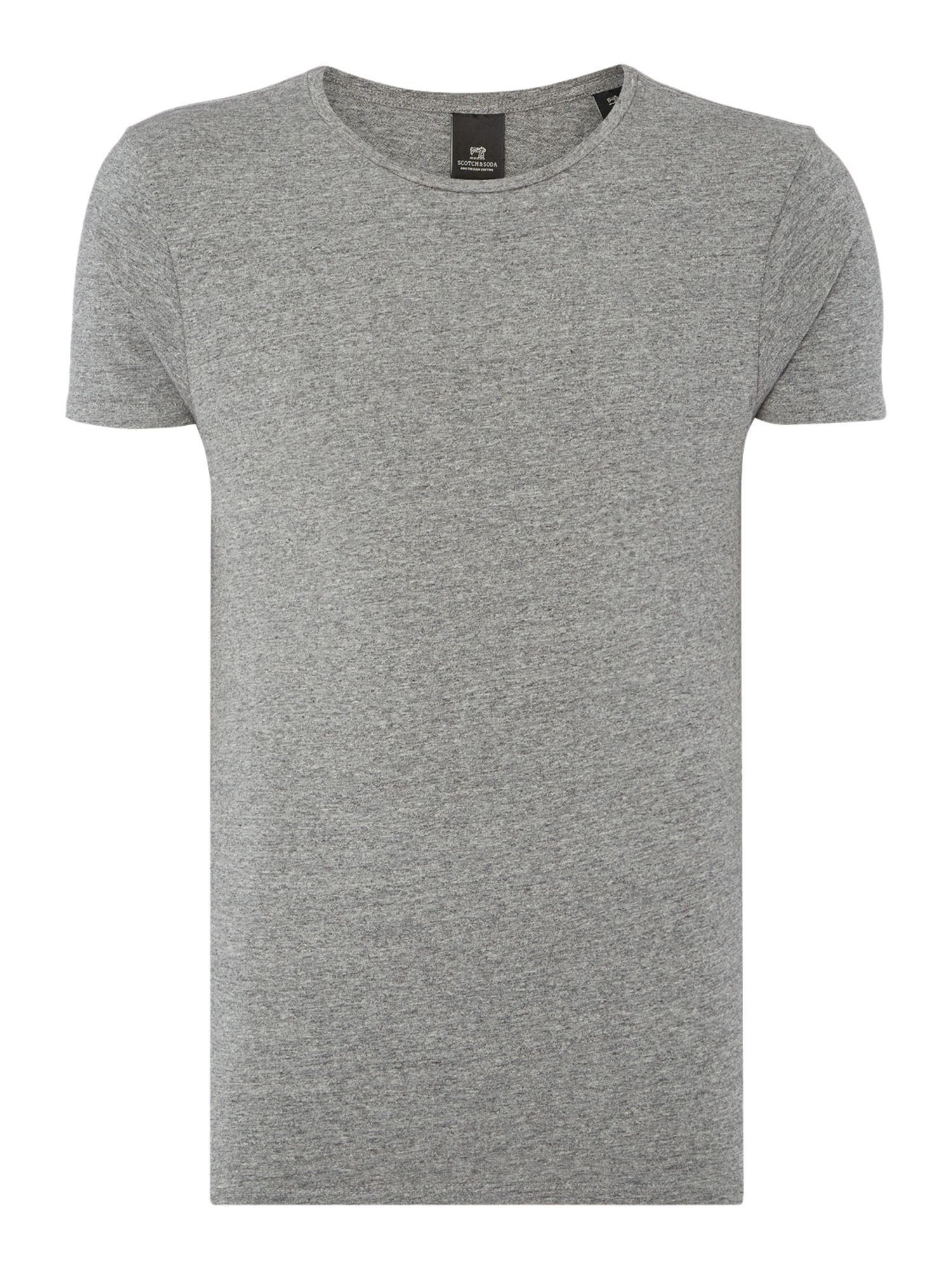 Men's Scotch & Soda Classic crewneck tee, Charcoal