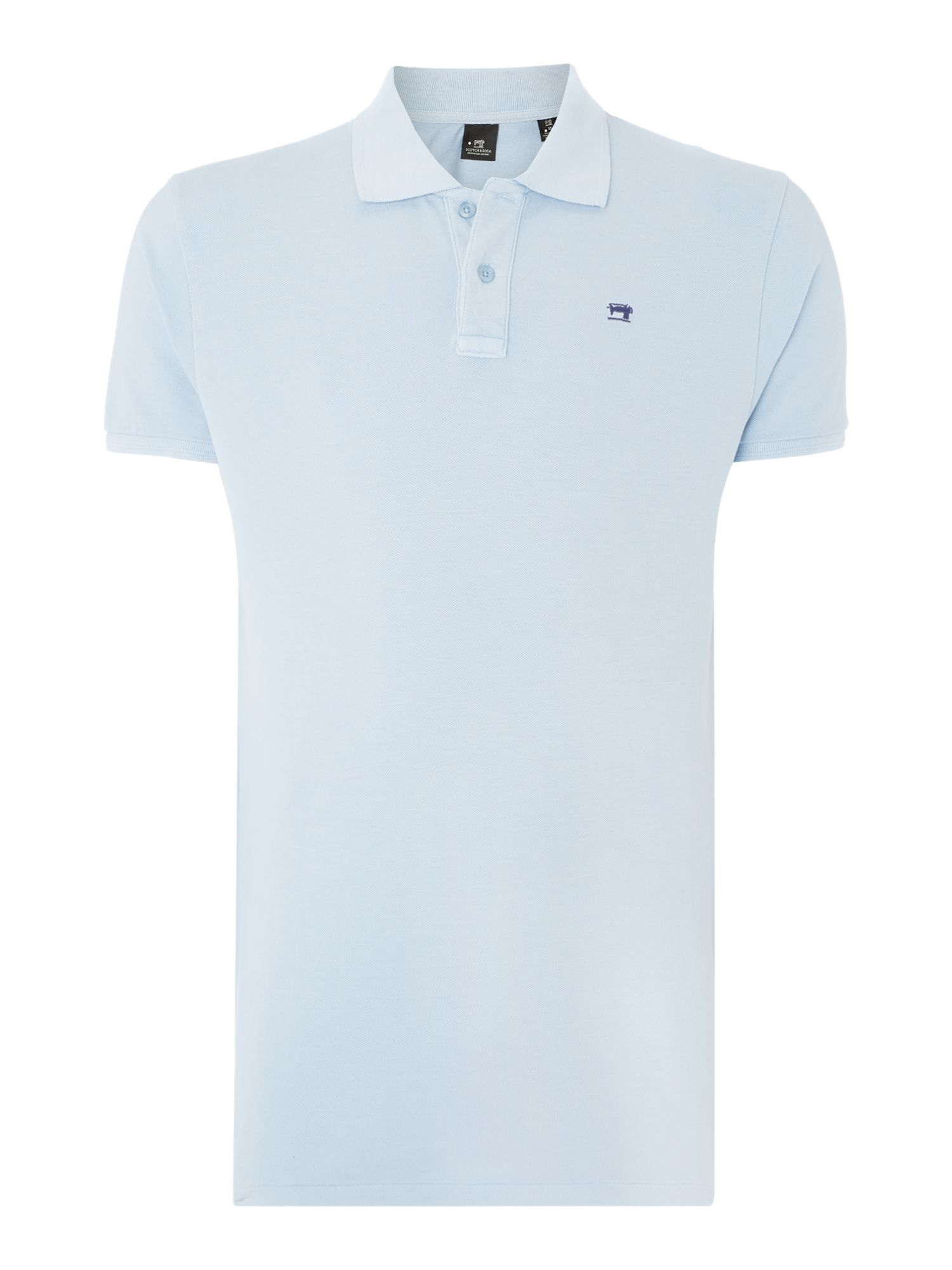 Men's Scotch & Soda Classic pique polo, Blue
