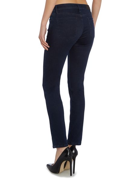 Calvin Klein Mid rise slim jean in dark eighties blue stretch