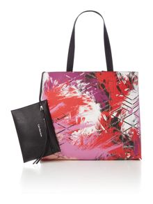 Calvin Klein Stacy multi coloured reversible tote bag