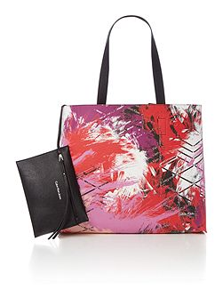 Stacy multi coloured reversible tote bag