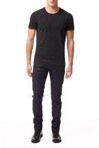 Calvin Klein Dillon black rinse wash whiskers jeans