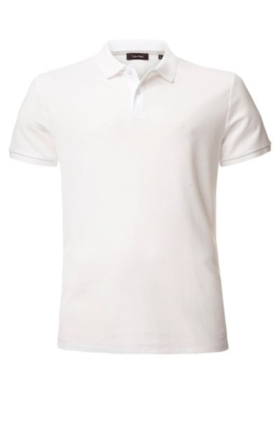 Calvin Klein Jacob refined pique chest logo polo