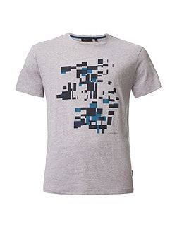 Jafi shifted boxes placement print tee