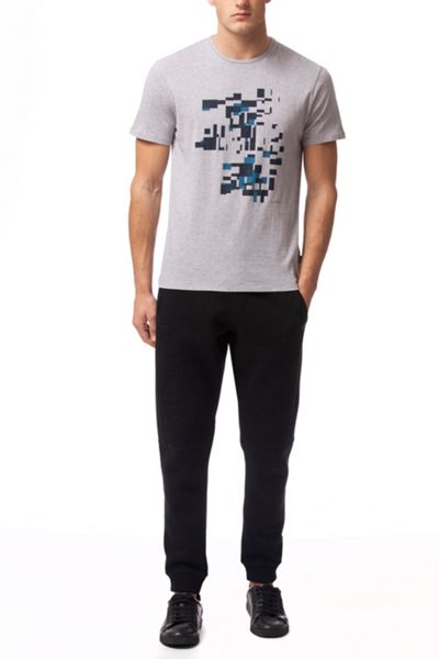 Calvin Klein Jafi shifted boxes placement print tee