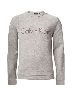 Karlin heather terry front logo Fleece