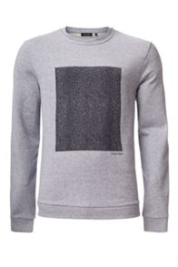 Calvin Klein Kavor heather terry print sweatshirt