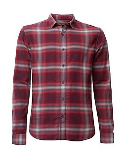 Wechelon check shirt ls
