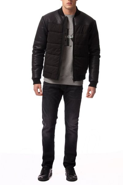 Calvin Klein Oiler 2 mixed media padded bomber
