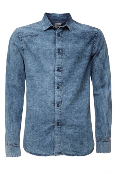 Calvin Klein Winstoned gmd washed shirt ls
