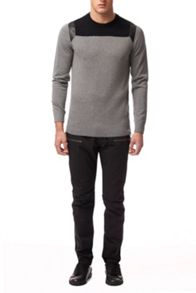 Calvin Klein Secret 3 cn wool blend long sleeve sweater