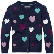 Tommy Hilfiger Girls Hearts Cardigan