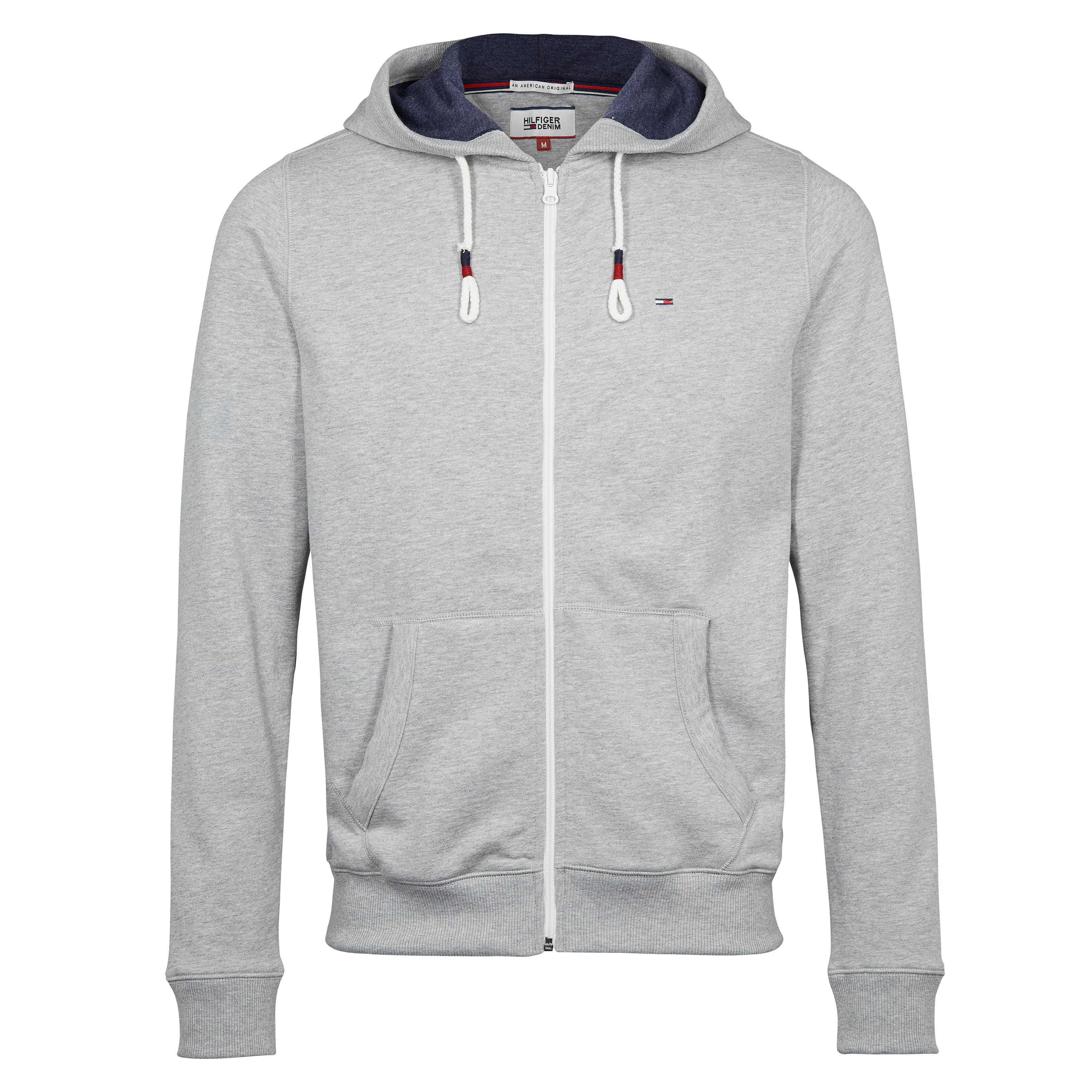 Men's Tommy Hilfiger Original Zip Through Hoody, Light Grey