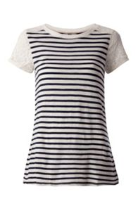 Tommy Hilfiger Basic Stripe and Lace Top