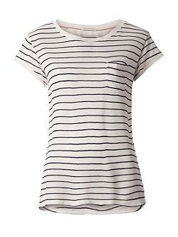Basic Crepe Stripe T-shirt