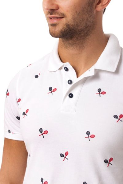 Tommy Hilfiger Allover Embroidery Polo