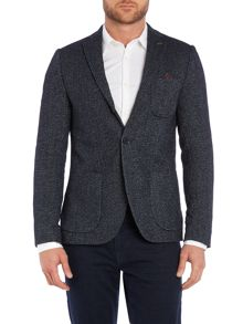 Scotch & Soda Woollen blazer with printed lining