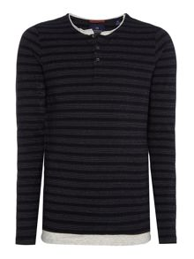 Scotch & Soda Grandad Long Sleeve Tee