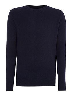 Classic Rib Knit Crew Neck Jumper