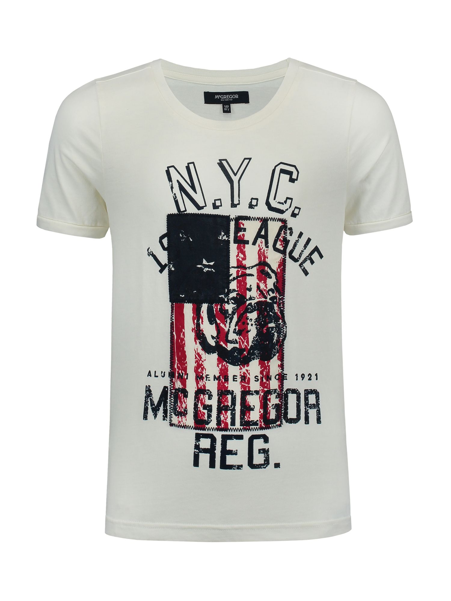 McGregor McGregor Boys T-shirt Cody Flag, White