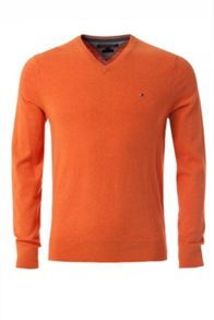 Tommy Hilfiger Cotton Linen V-neck Jumper