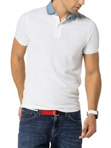 Tommy Hilfiger Denim Collar Polo Top