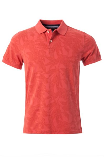 Tommy Hilfiger Batik Flower Polo Top