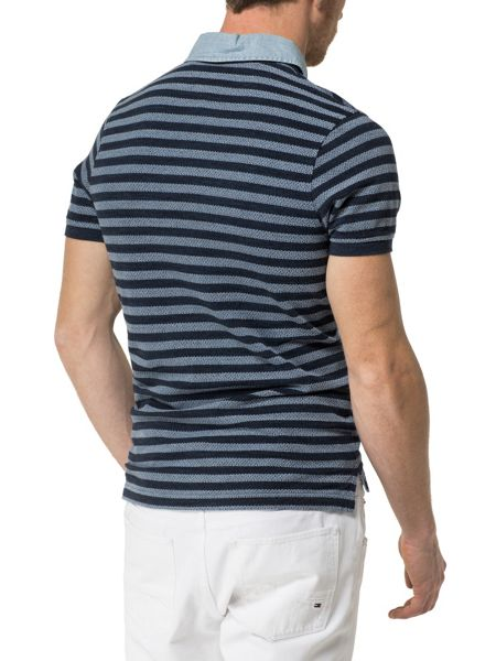 Tommy Hilfiger Berry Stripe Polo Top
