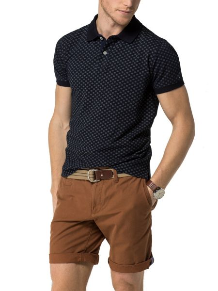Tommy Hilfiger Dotted Print Polo Top