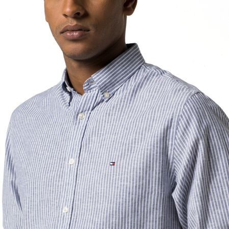 Tommy Hilfiger Cotton Linen Stripe Shirt