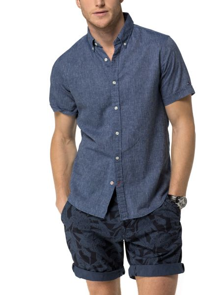 Tommy Hilfiger Cotton Linen Chambray Shirt