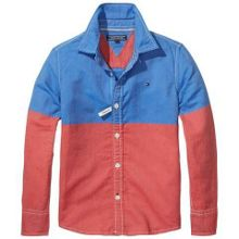 Tommy Hilfiger Boys Oxford Colourblock Shirt