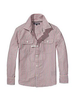 Boys Keiron Seersucker Stripe Shirt