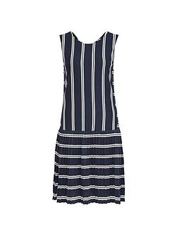 Faye Plisee Stripe Dress
