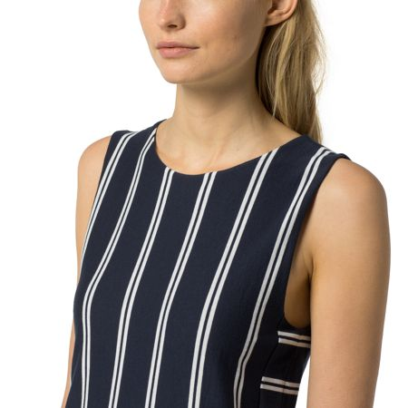 Tommy Hilfiger Faye Plisee Stripe Dress