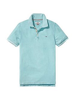 Garment Dyed Polo Top