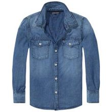 Tommy Hilfiger Boys Structured Light Denim Shirt